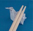origami chopstick stand