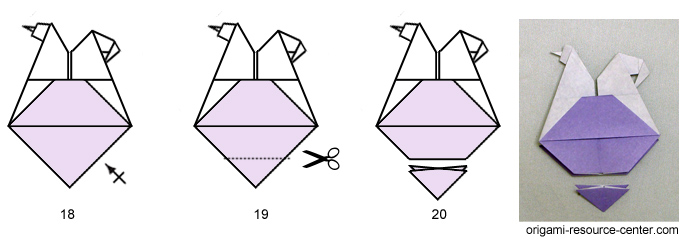 origami paper Egg-Laying Chicken