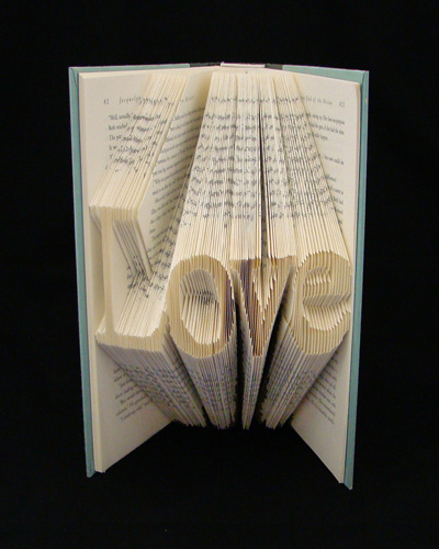 folded book gift