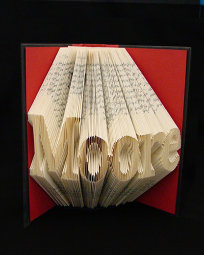 folded book pages