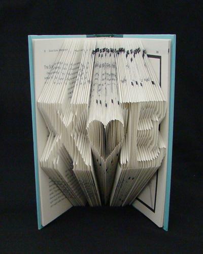 folded book decoration